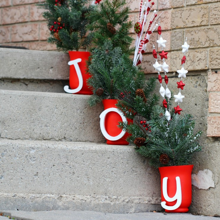 this joy outdoor christmas display is easy to customise and is a cheery way to bright - Joy Outdoor Christmas Decoration