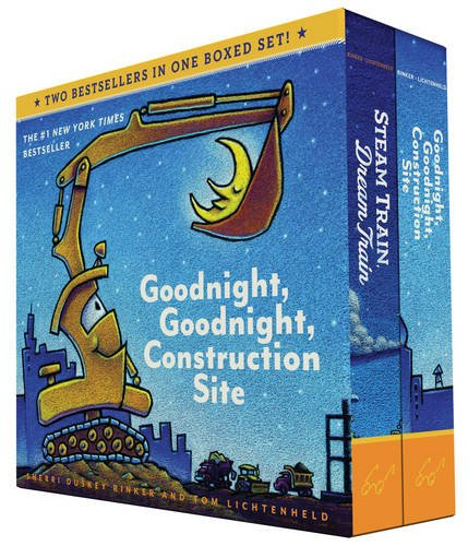 Goodnight, Goodnight Construction Site & Steam Train, Dream Train Board Books Boxed Set & Puzzle #FMEGifts2015