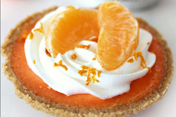 Mini Clementine Cream Tarts