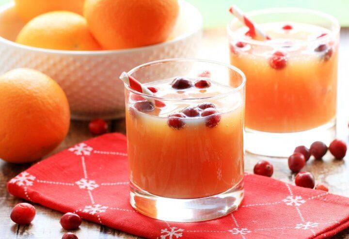 Non-Alcoholic Cranberry Orange Spritzer