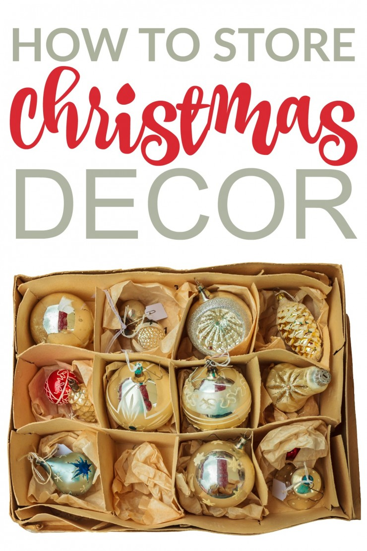 How to Store Christmas Decor - Smart Organization and Storage Ideas for Ornaments, Christmas Trees and more!