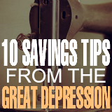 10 Great Depression Era Savings Tips