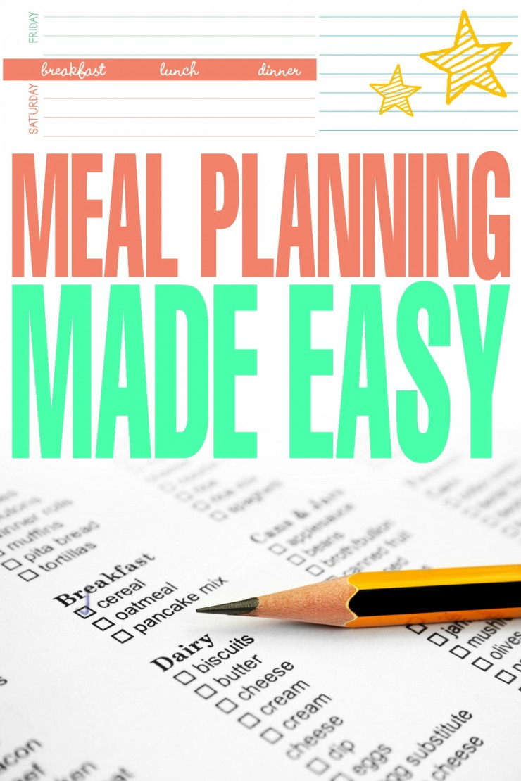 Meal Planning Made Easy with tips, tricks and a free printable meal planner!