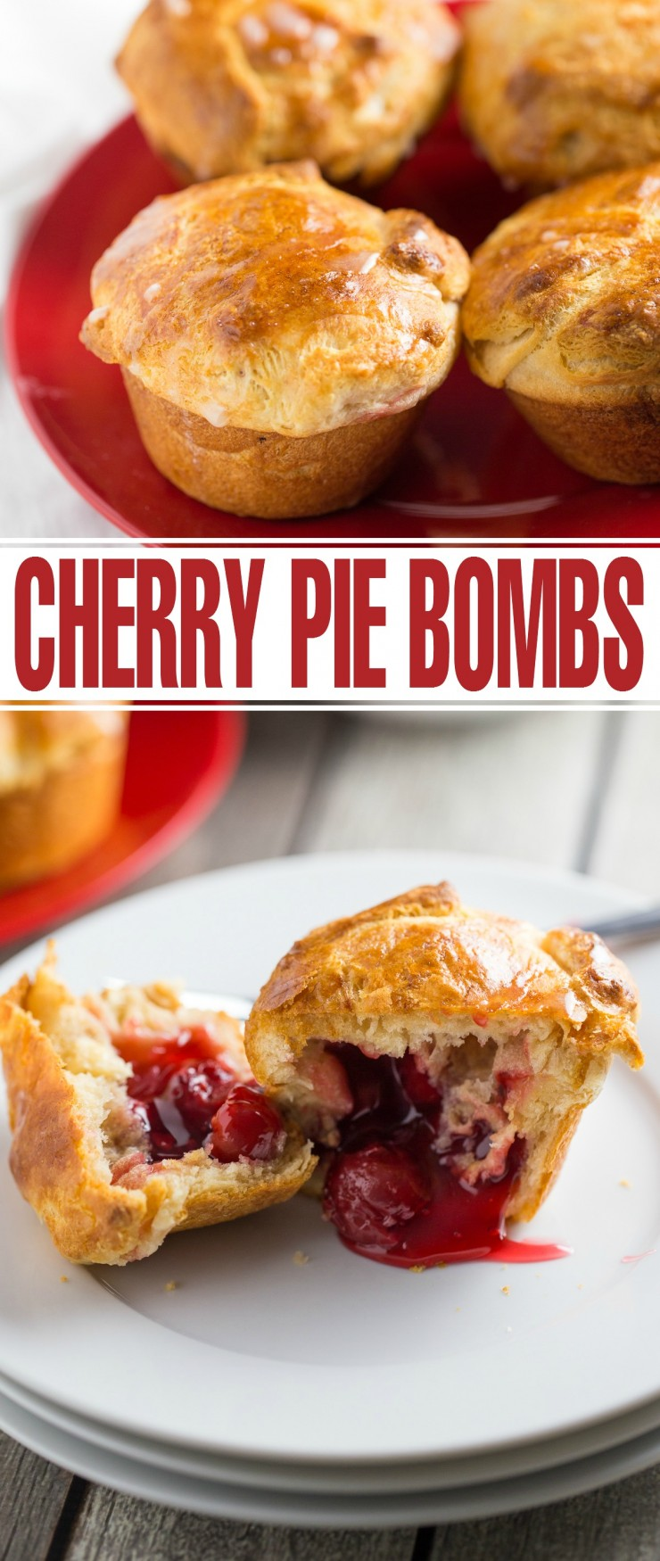 These Cherry Pie Bombs are full of Cherry Pie flavour in a miniature package! Super easy to make, these are a great dessert to serve at dinner parties.