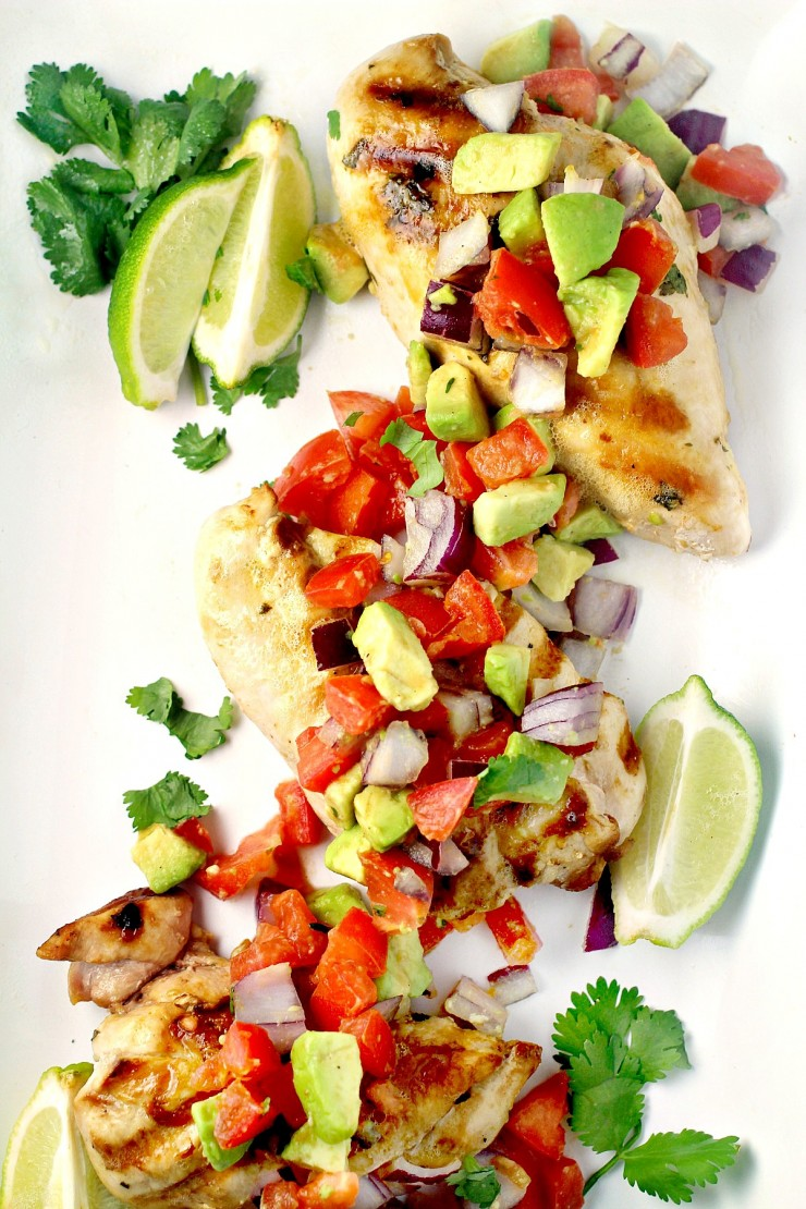 This Cilantro Lime Chicken with Fresh Avocado Salsa is delicious ...