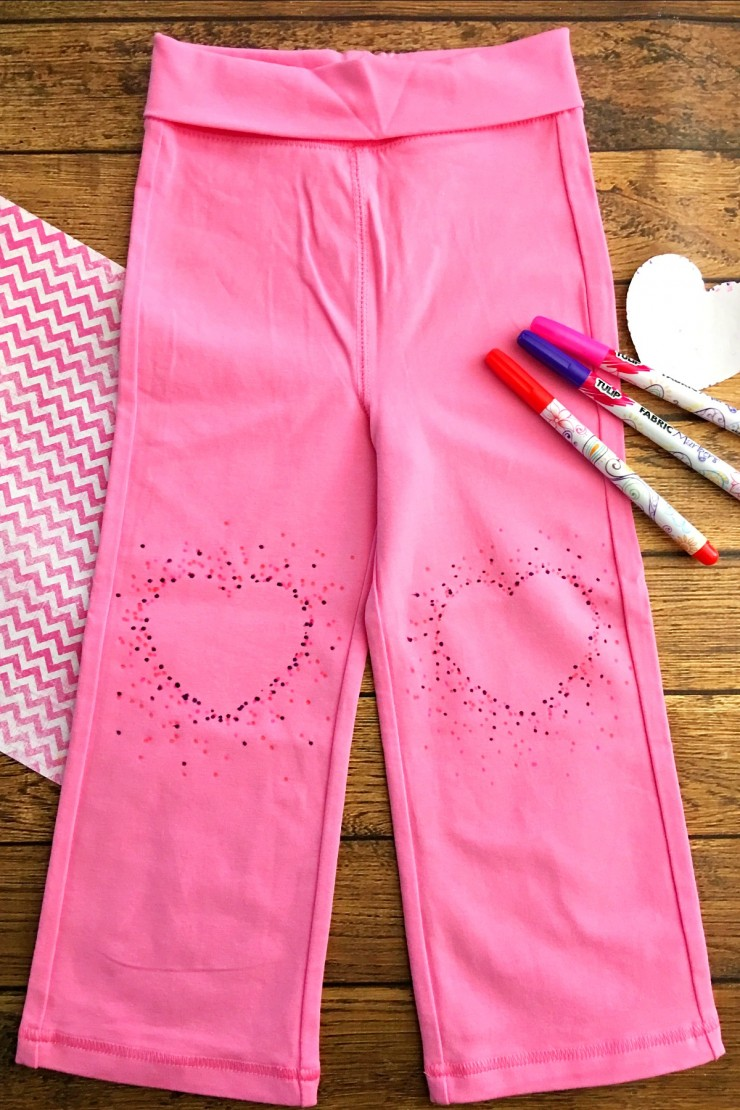 These DIY Kids Heart Dot Knee Pad Pants are adorable and super easy to make.  Perfect for Valentine's Day, but your little sweetie won't mind wearing these year round!