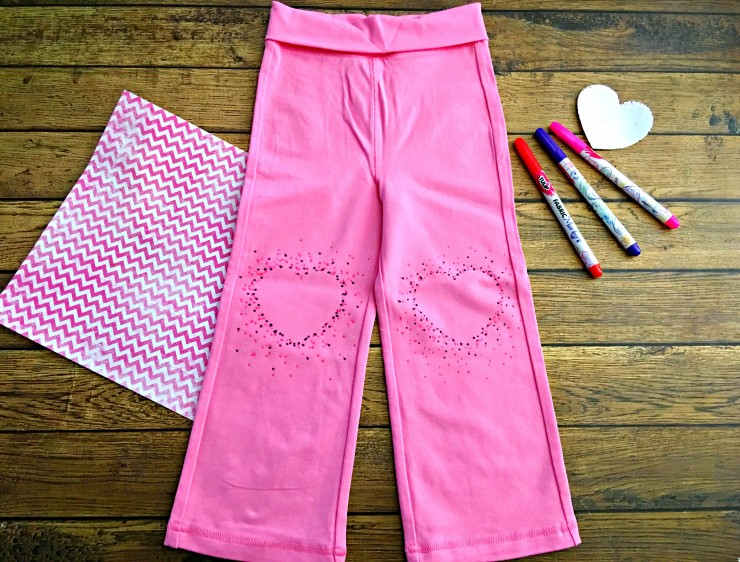 DIY Kids Heart Dot Knee Pad Pants