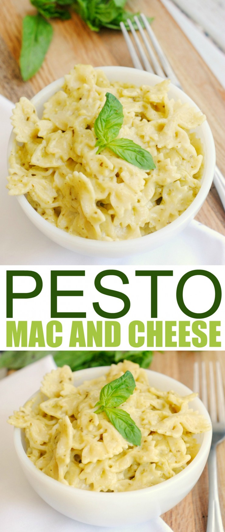 This Pesto Stovetop Mac and Cheese is a super easy gourmet meal idea!