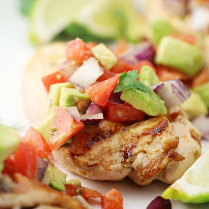 Cilantro Lime Chicken with Fresh Avocado Salsa