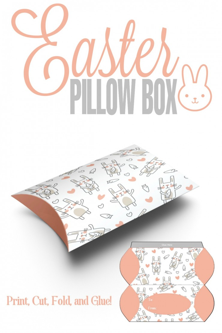 Free Printable Easter Pillow Box Template plus ideas for fillers!