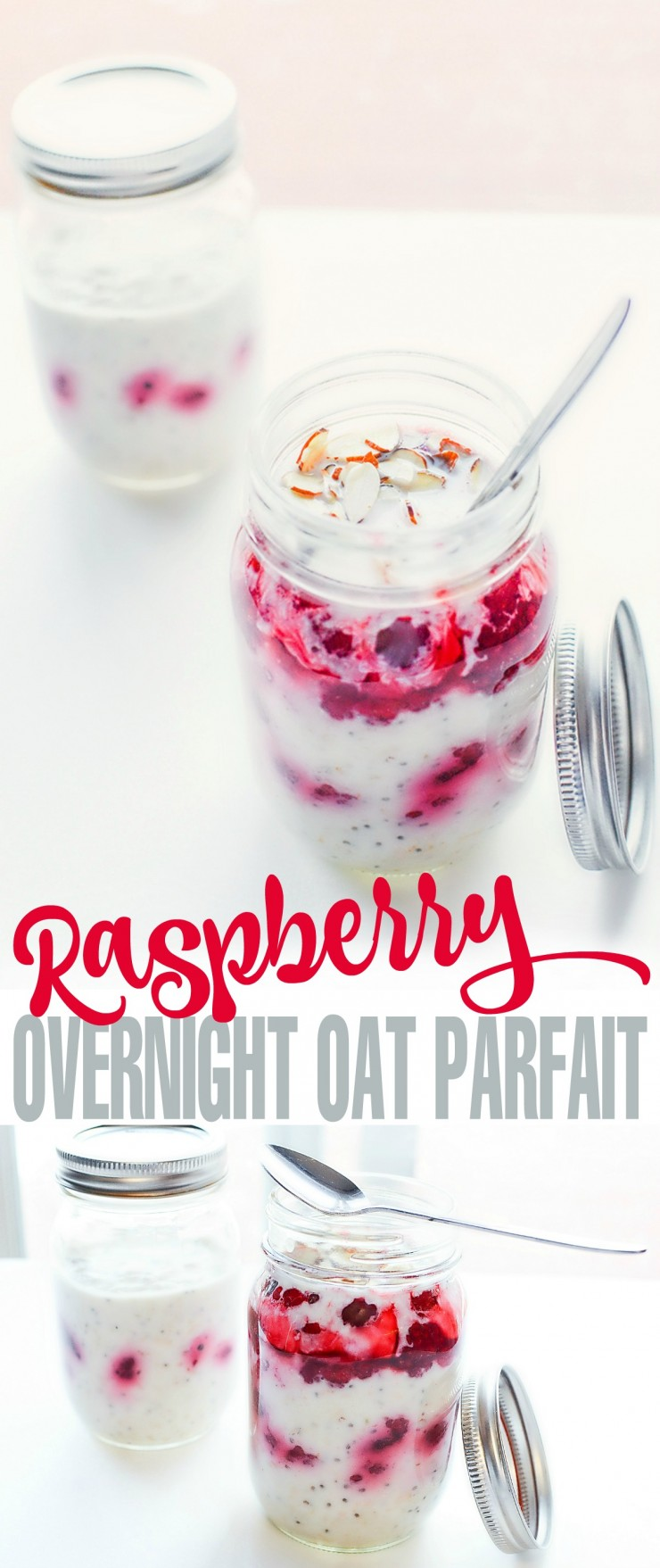 This Raspberry Overnight Oats Recipe is a delicious and healthy breakfast you can prep ahead of time for breakfast on-the-go - or from the comfort of home.
