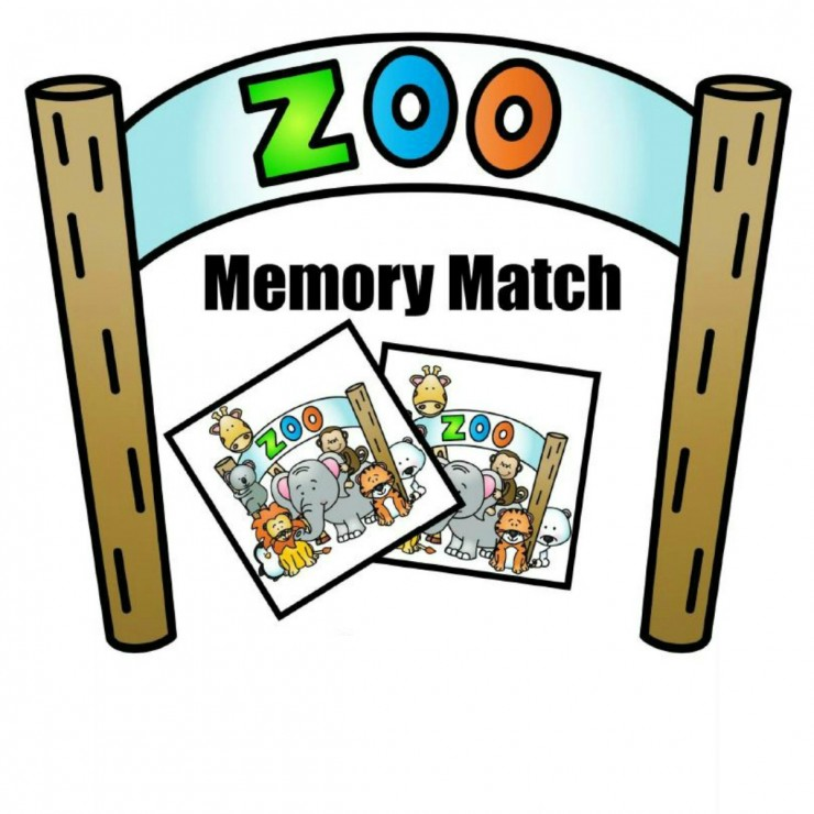 Free Printable Zoo Memory Match Game
