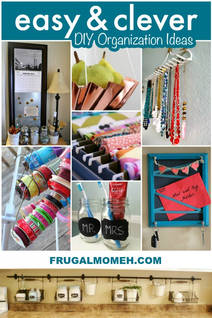 Easy & Clever DIY Organization Ideas to get your home as organized as possible with simple projects anyone can do!