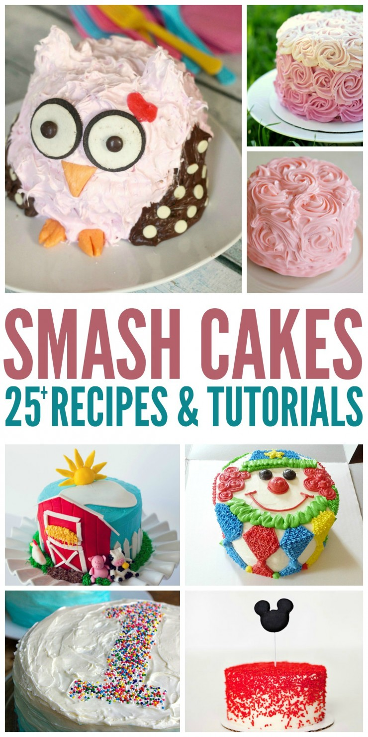 25 Smash Cake Recipes Tutorials To Help You Plan A Smashing First Birthday Party