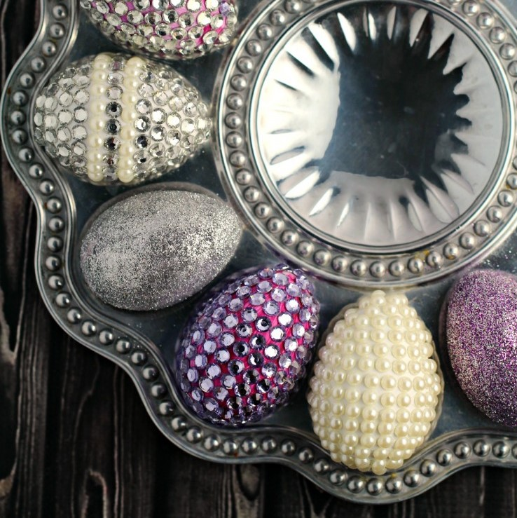Blinged Out Easter Eggs