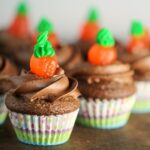 Mini Carrots & Dirt Cupcakes