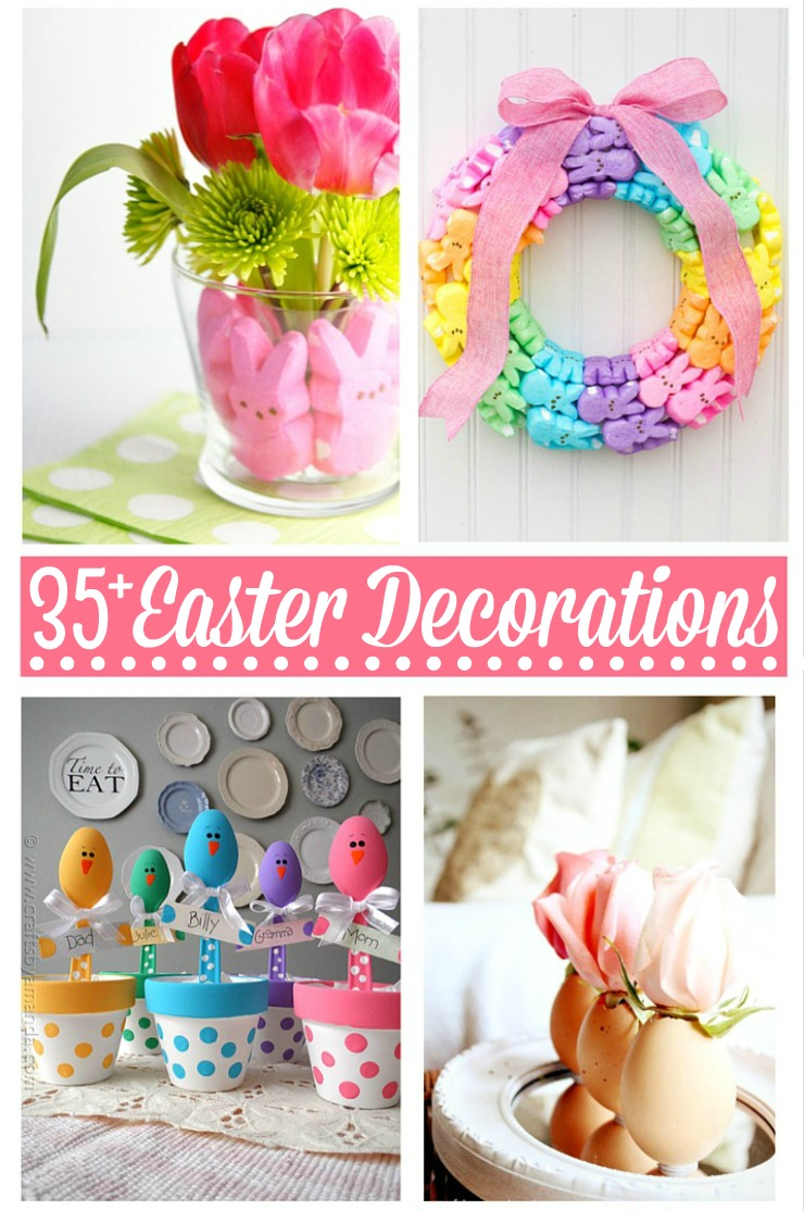 Check out these 35+ Gorgeous Easter Decorations to help you get inspired to get your  sc 1 st  Frugal Mom Eh! & 35+ Gorgeous Easter Decorations - Frugal Mom Eh!