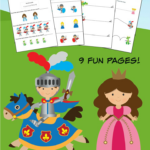 Knights and Dragons K-1st Grade Worksheets