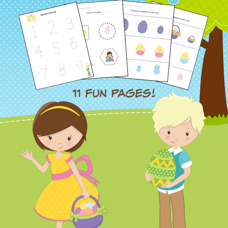 Easter Themed Kindergarten Math Worksheets