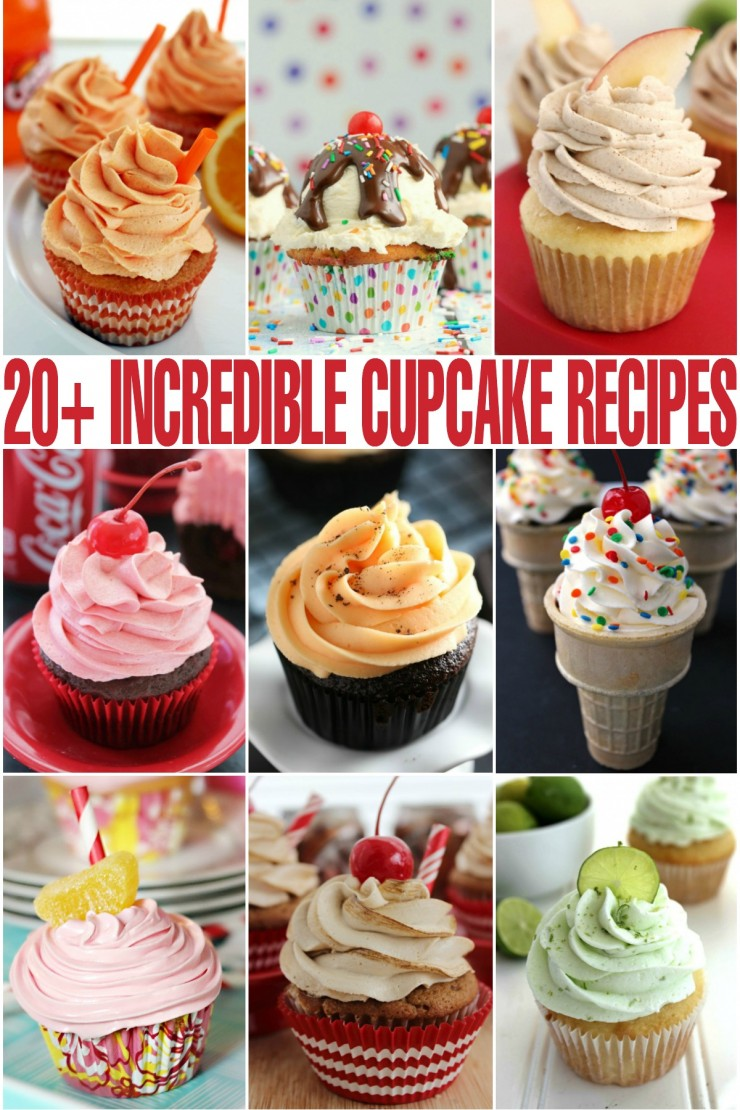 I've curated a list of over 20 incredibly delicious cupcake recipes to inspire you towards more cupcake greatness. Everyone loves cupcakes!
