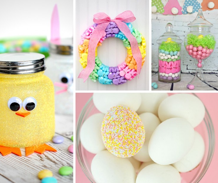 35 gorgeous easter decorations frugal mom eh for Easter decorations ideas for the home