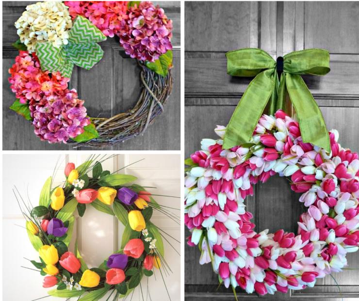 25 Stunning Spring Door Wreaths