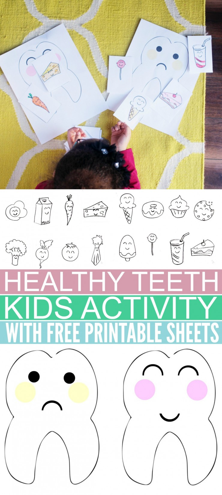 Printable coloring pages healthy habits - Teach Your Kids Good Oral Health Habits With This Fun Healthy Teeth Kids Activity
