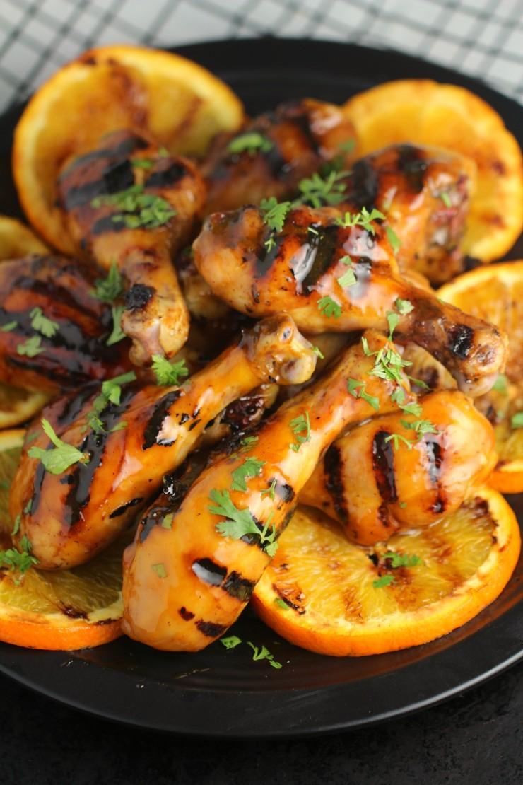Orange-Glazed-BBQ-Chicken-Drumsticks 2