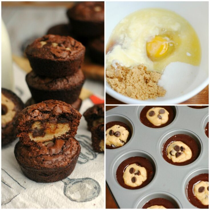 Chocolate Chip Cookie Brownie Cups