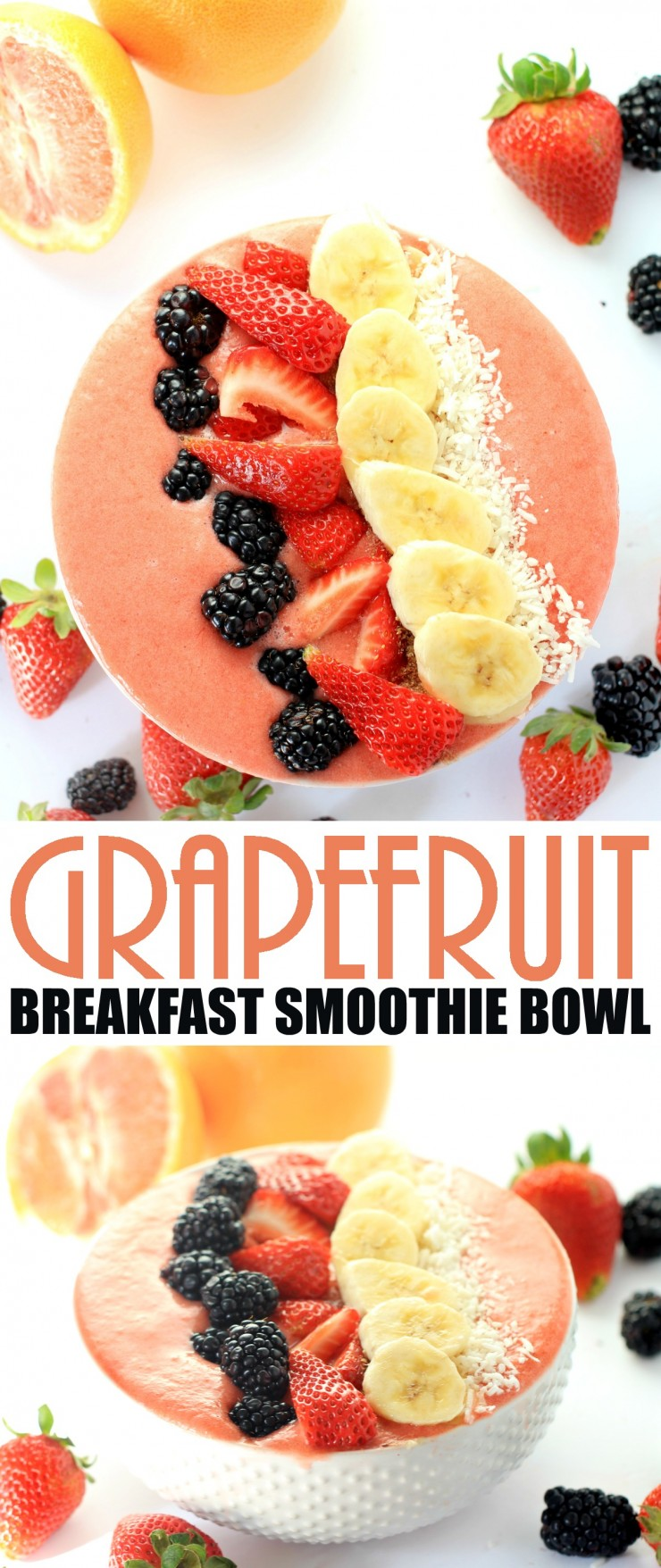 This Grapefruit Breakfast Smoothie Bowl recipe will help you get going with an energizing and filling breakfast packed with fruit.