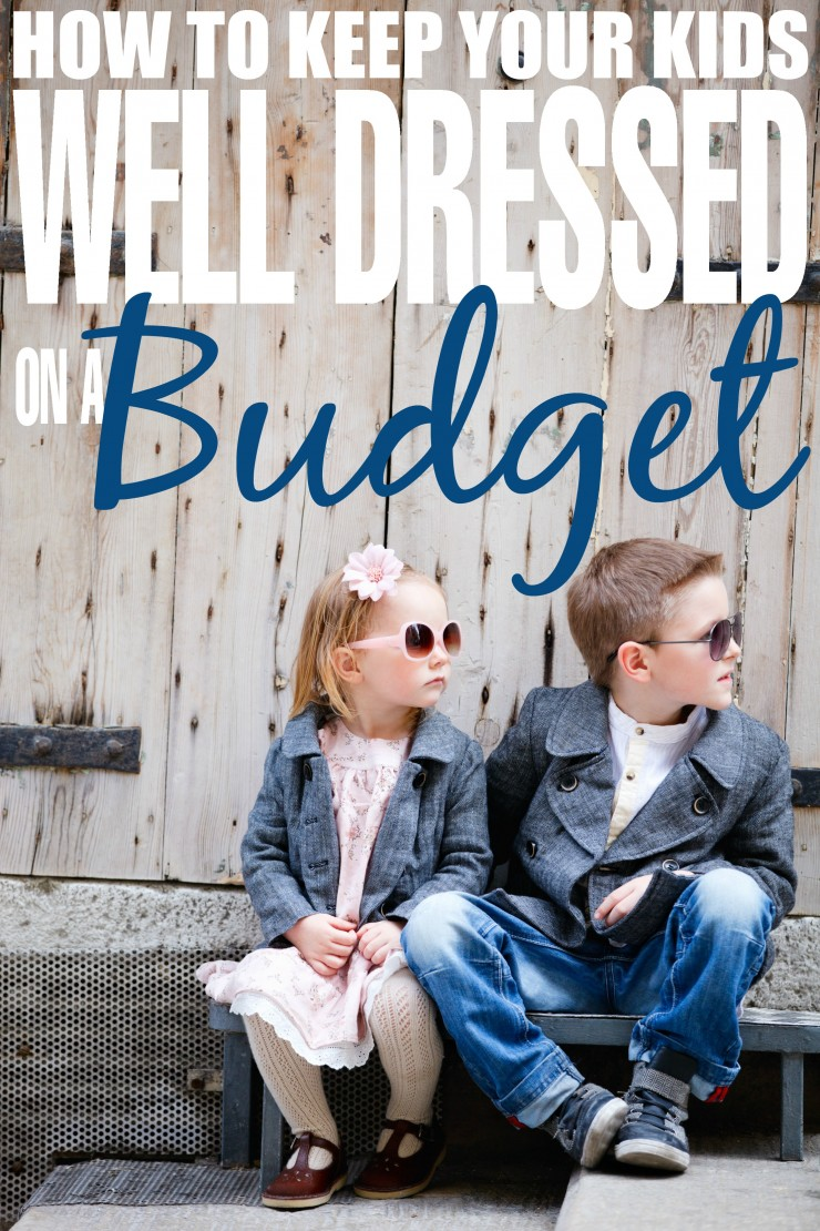 How to Keep Your Kids Well Dressed on a Budget. Tips and tricks from a frugal mom to help you dress your kids in style on a dime!
