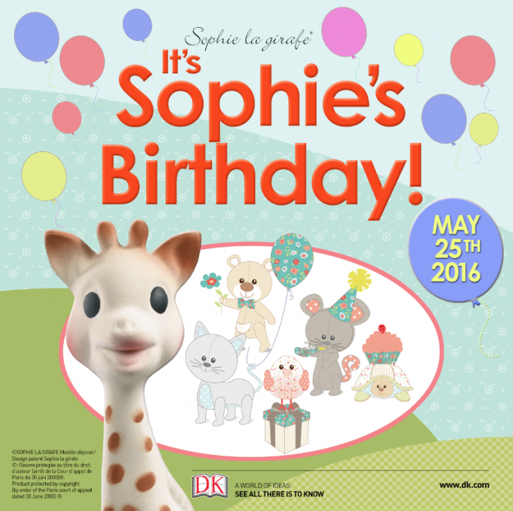 Enter to win a Sophie La Girafe Prize Pack | Canada only | Ends May 25th 2016 to celebrate Sophie La Girafes 55th birthday!