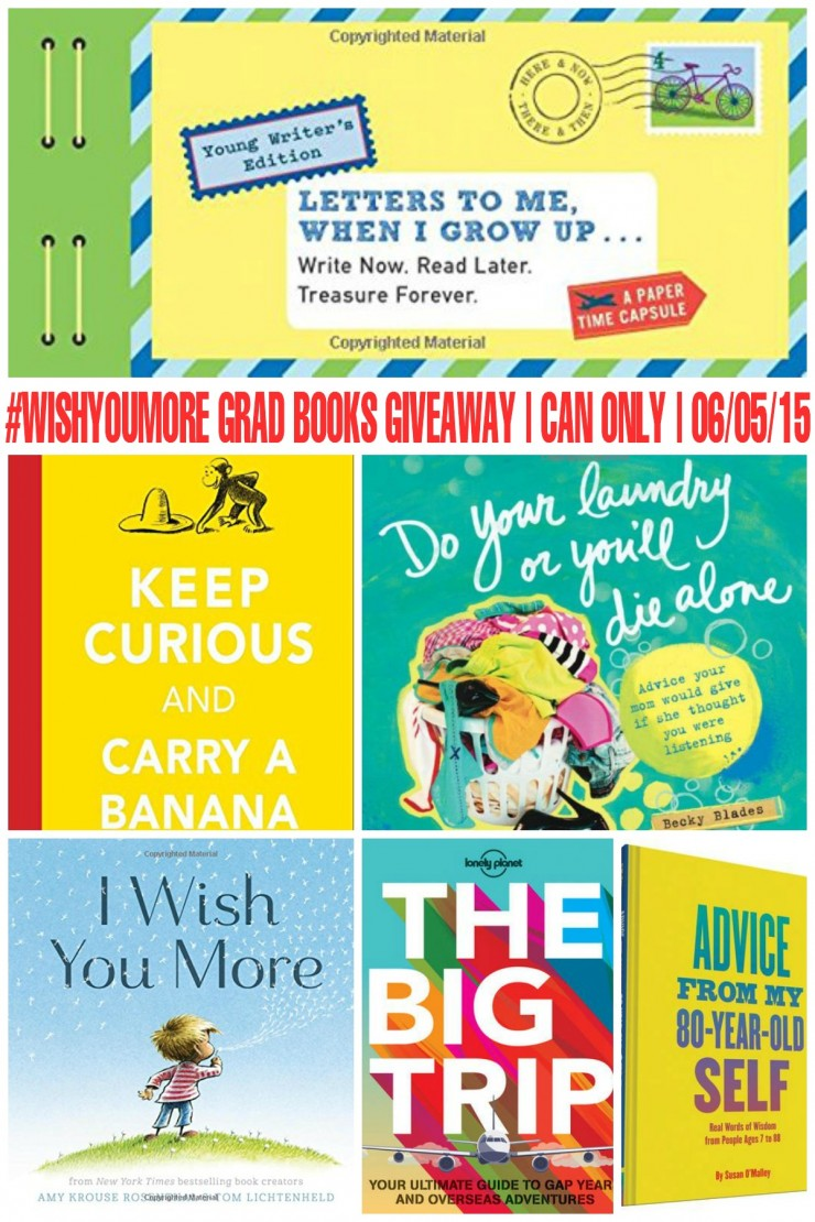 One Canadian Frugal Mom Eh reader will win a #WishYouMore Grad Books Prize Pack from Raincoast Books (Prize Pack consists of 3 titles chosen from the selection in this post by the winner.). Open to residents of Canada 18+ and ends on June 5th at 11:59 pm ET.