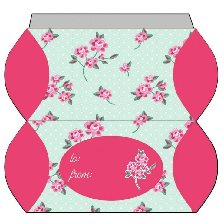 Shabby Chic Polka Dot Roses Pillowbox