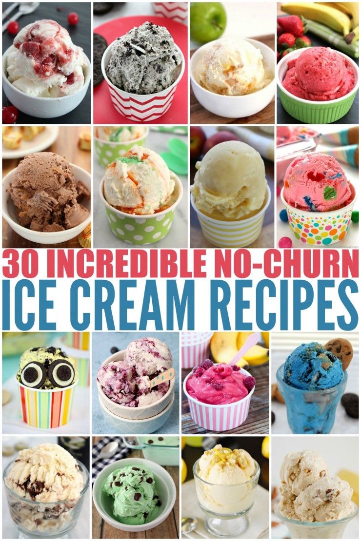 These 30+ Incredible No-Churn Ice Cream Recipes are all super easy to make at home. Ice Cream has never been so good! They are sure to be crowd pleasers all summer long.