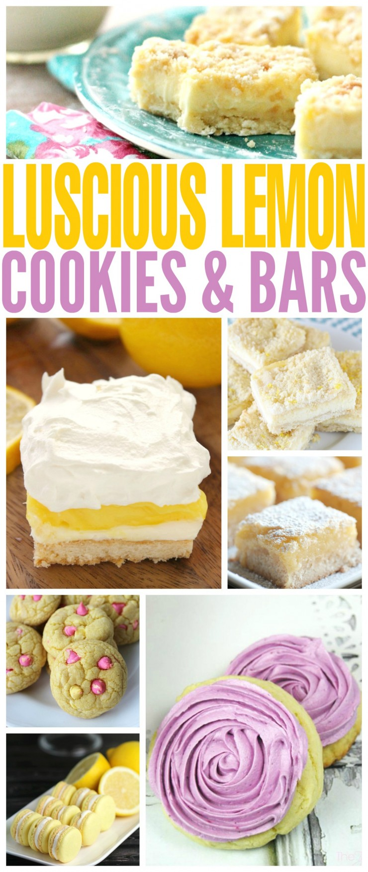 These 25 luscious lemon cookies and bars are melt-in-your mouth packed full of flavour and lemony goodness!