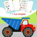 Construction Trucks Math Pack for Kindergarten to 1st Grade