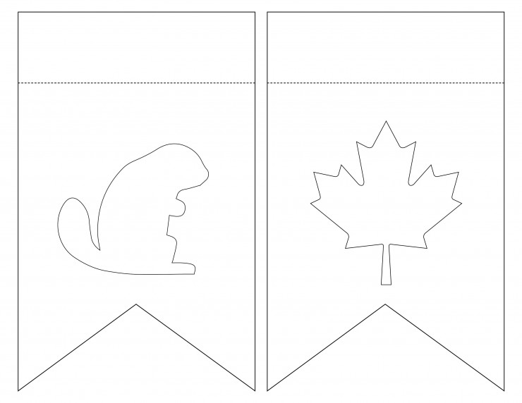 canada day bunting with free printable template frugal mom eh