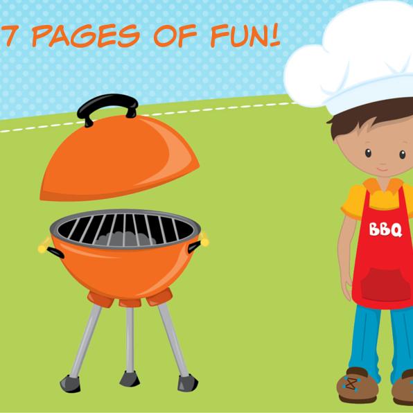 Summer BBQ Theme Pack Worksheets for Pr-K to Kindergarten