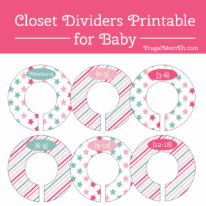 Nursery Closet Organization Ideas + Free Nursery Closet Dividers