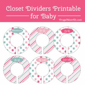 Nursery Closet Organization Ideas + Free Nursery Closet Dividers