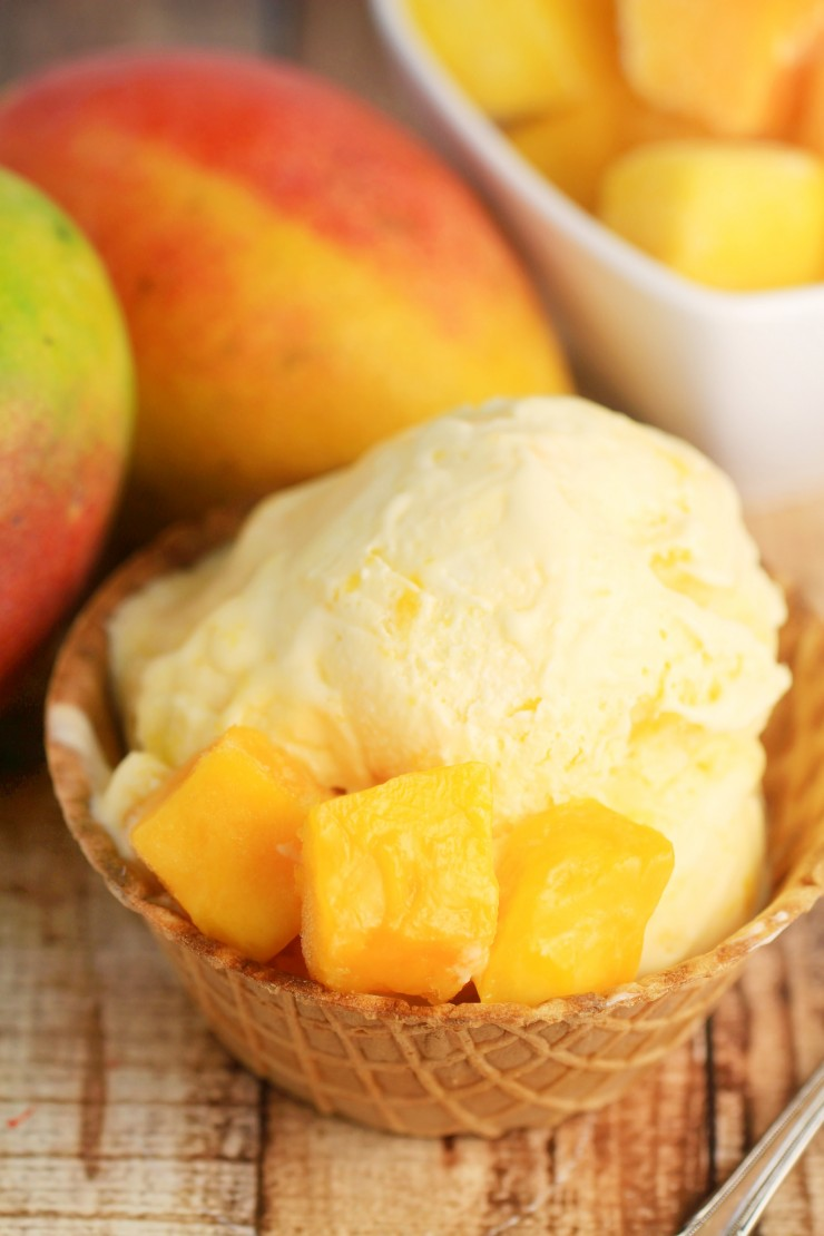 Mango Ice Cream has all the sweet fragrant tropical flavour of mango ...