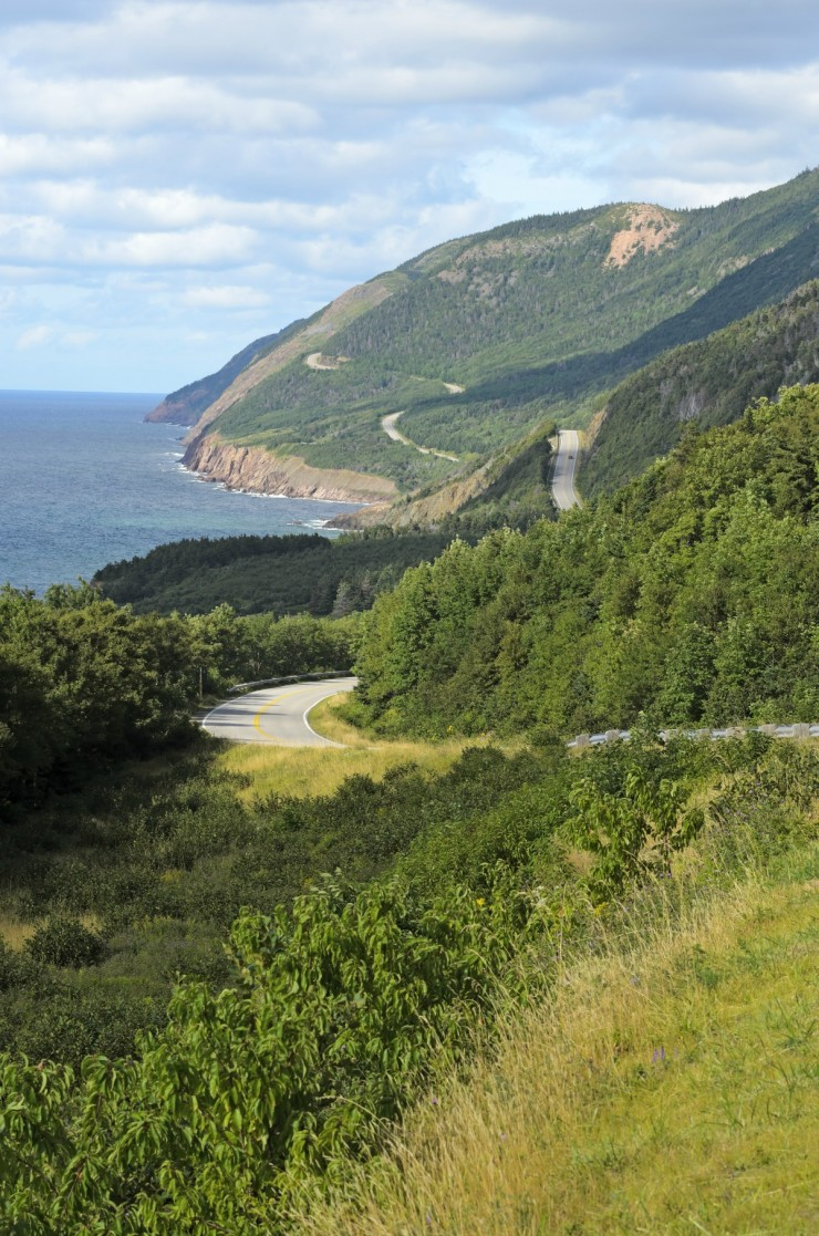 View of Cabot Trail in Cape Breton Island Nova Scotia Canada