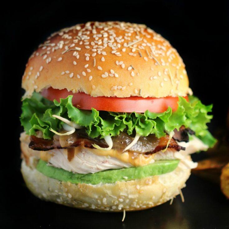 California Rotisserie Chicken Club Sandwich