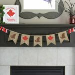 Canada Day Bunting with Free Printable Template