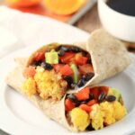 Black Bean & Avocado Breakfast Burritos
