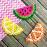 Fruit Perler Bead Magnets