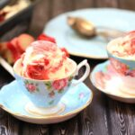 No-Churn Strawberry Rhubarb Ice Cream
