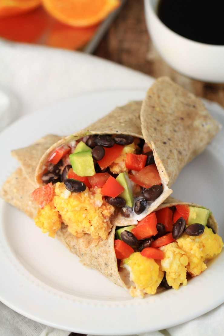 These Black Bean & Avocado Breakfast Burritos are a surprisingly quick and easy breakfast to throw together. Delicious enough for weekend mornings but fast enough for breakfast on-the-go.