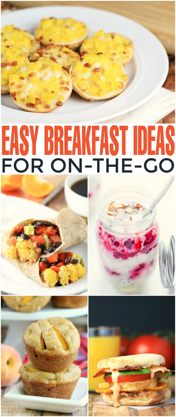 Easy Breakfast Ideas for On-The-Go! Healthy meal ideas no matter how busy your life gets. There is a recipe for everyone in this list!